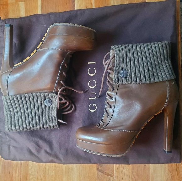Gucci Lace-up Ankle Booties